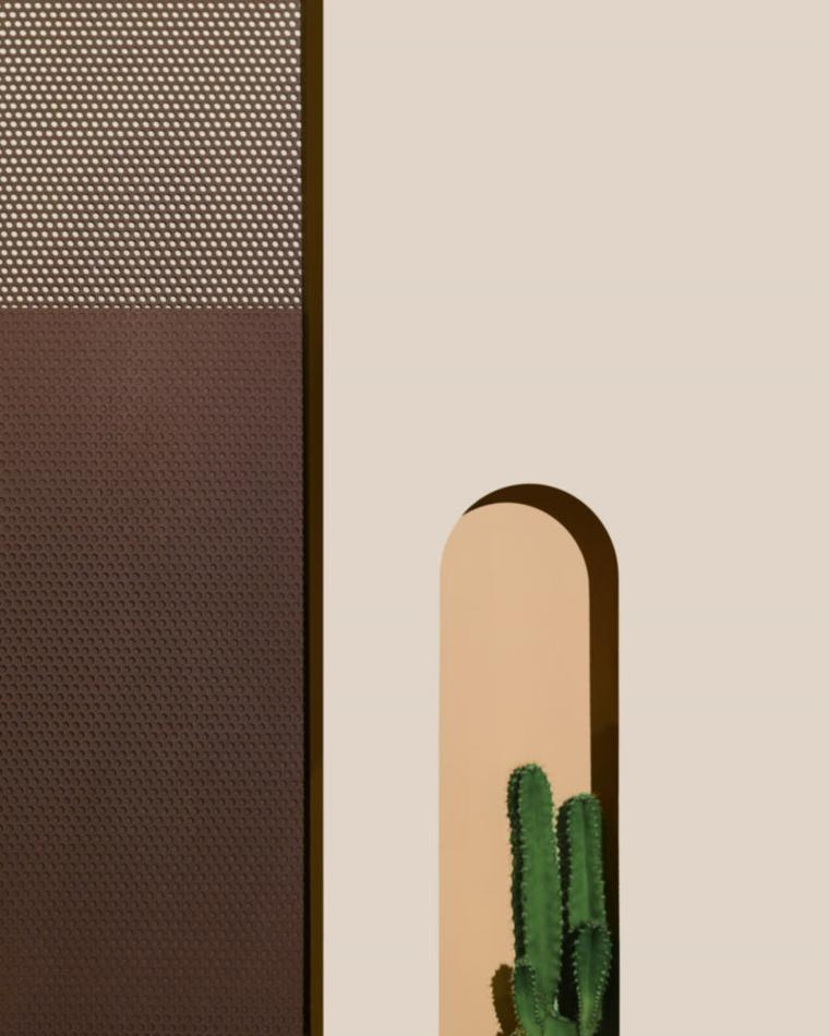 Décoration de murs métalliques
