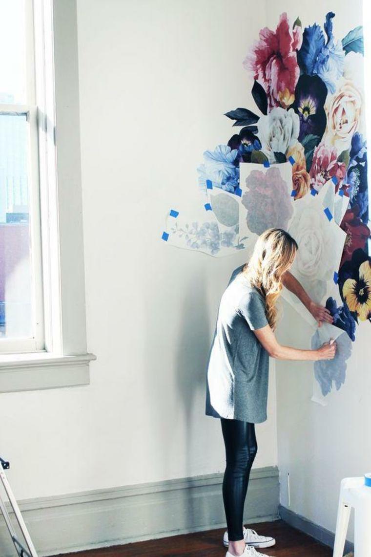 Tendances de la décoration murale - Autocollants avec motifs floraux