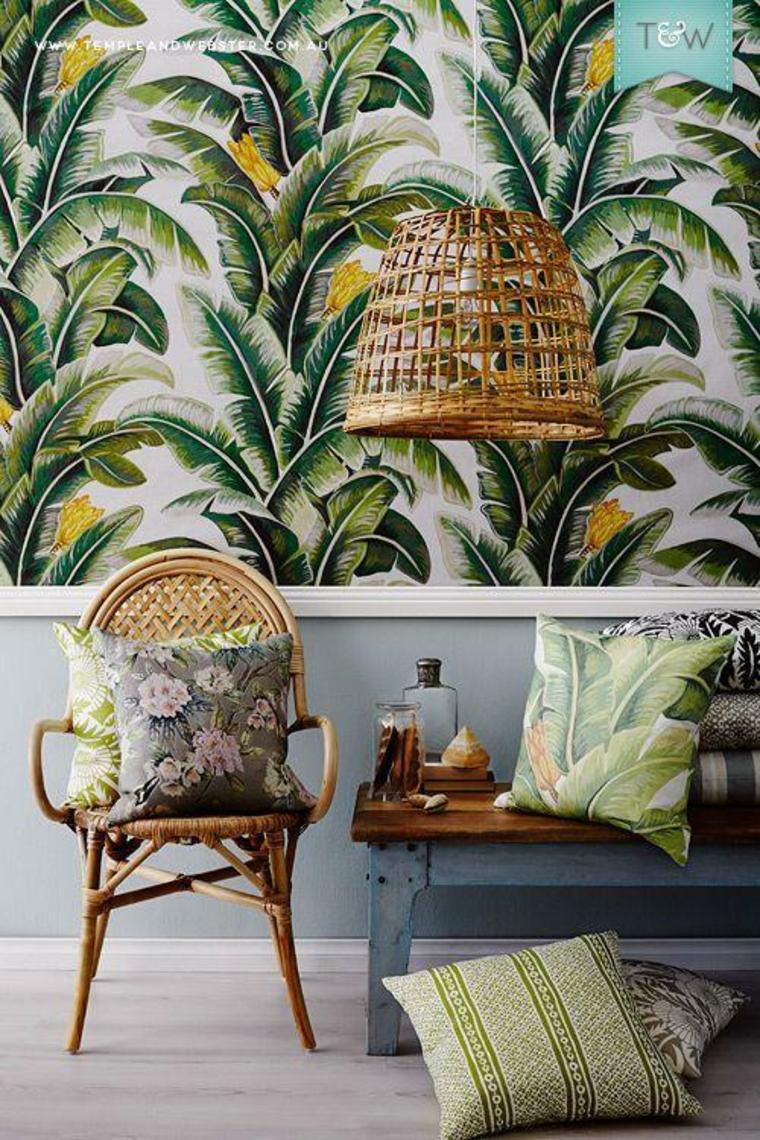 Le papier peint tropical