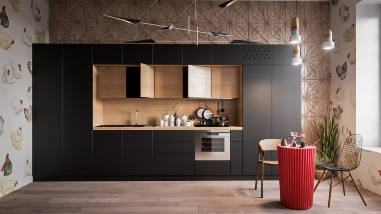 cuisine-noir-design-style moderne