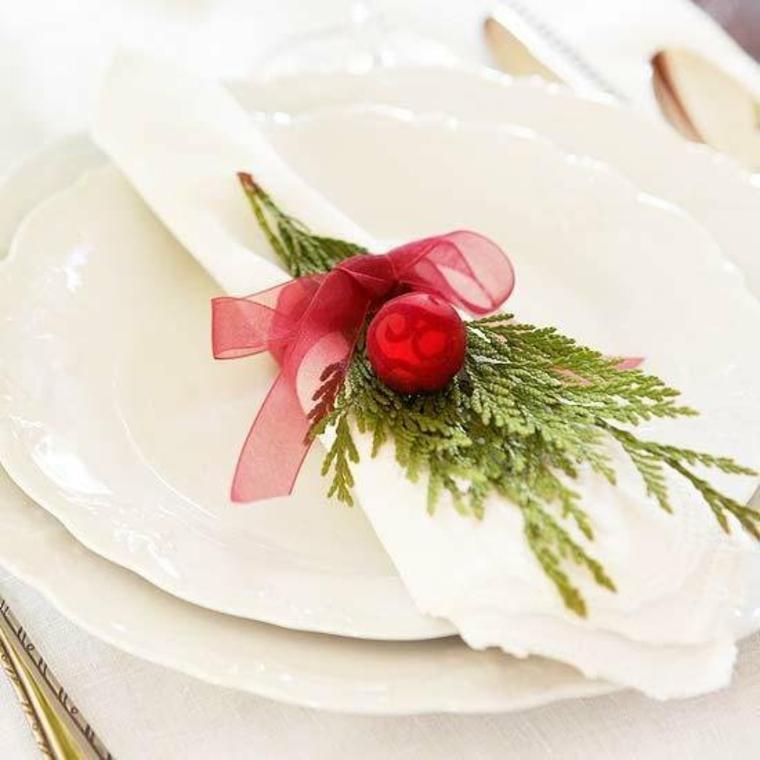 Décoration de noel pour la table