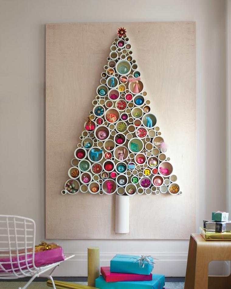 Sapin de Noël sur le mur
