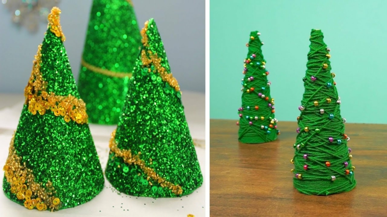Arbres de Noël originaux Diy en miniature