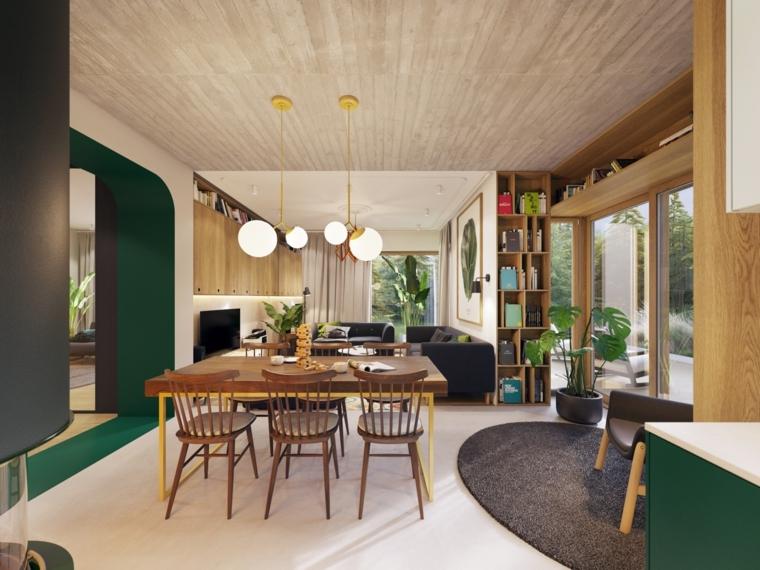 décoration-de-chambres-et-diner-accents-moderne