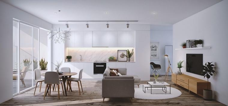 décoration des chambres et des salles à manger de style contemporain