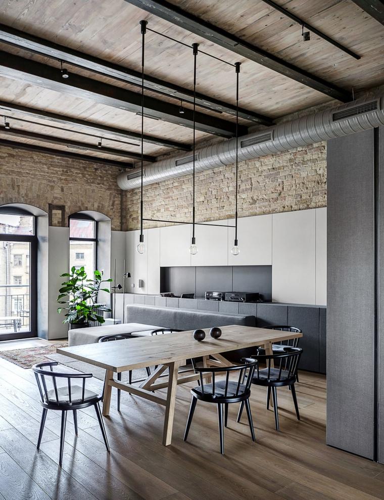 décoration-de-chambres-et-diner-mobilier-bois-moderne