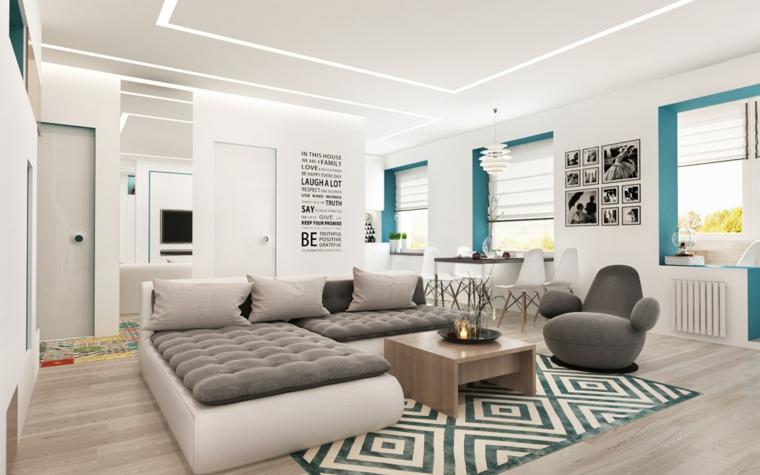 décoration-de-chambres-et-diner-sofa-couleur-blanc