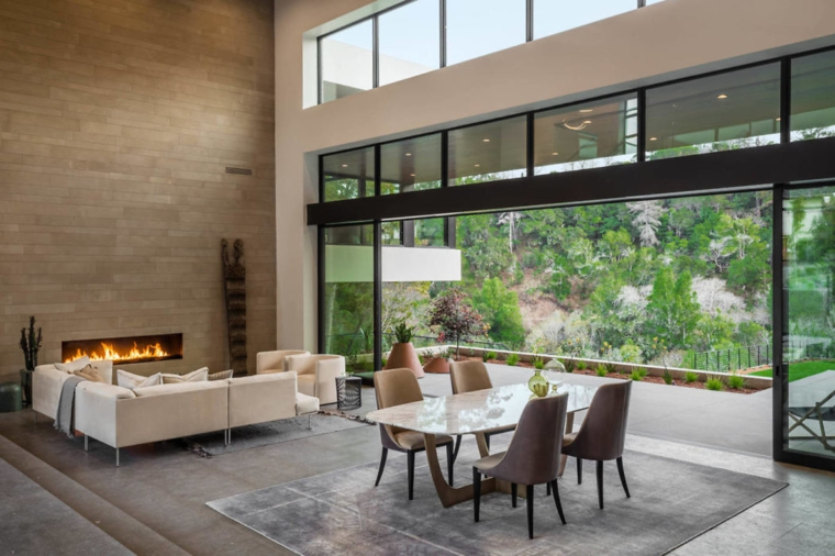 salon-cheminée-style-moderne-salon-salle à manger