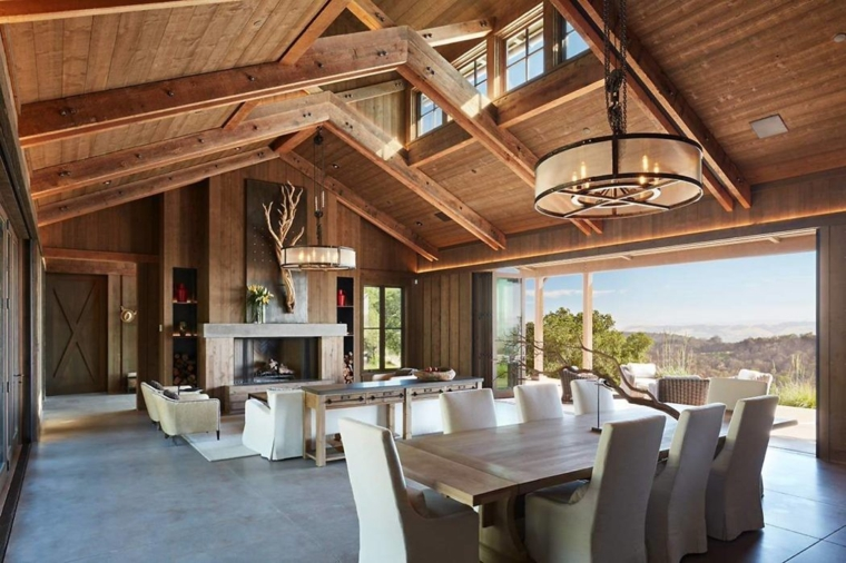 salon-salle à manger-design-intérieurs-modernes
