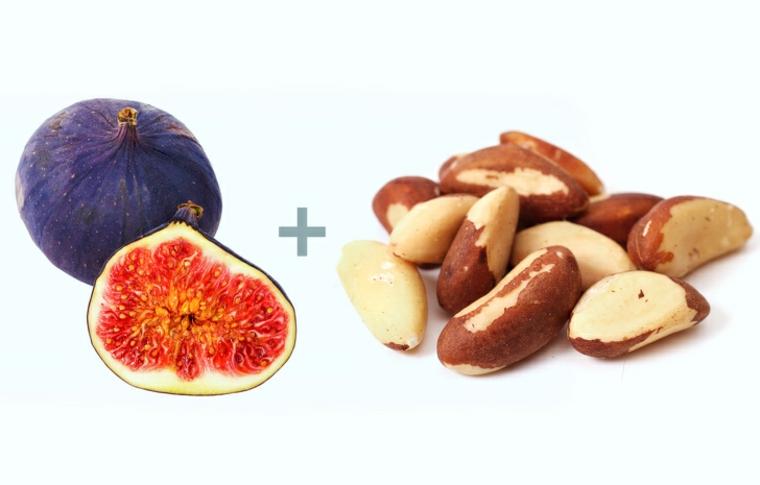 figues et cacahuètes