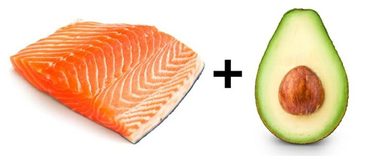 nourriture au saumon et à lavocat