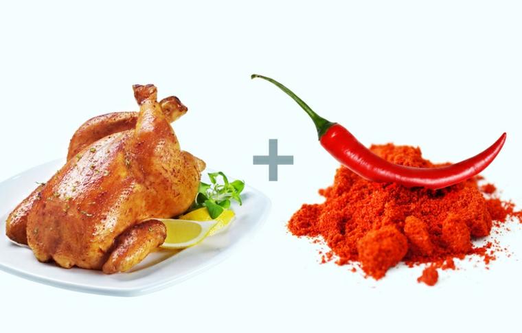 poulet et piment