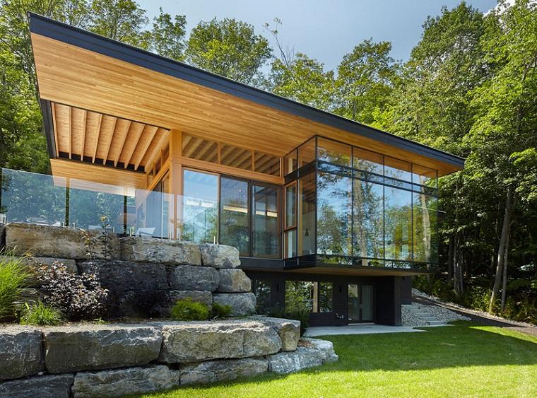 différentes cabines en bois modernes