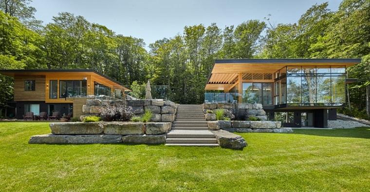 cabines en bois jardins modernes