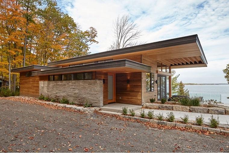 cabines en bois grande terrasse