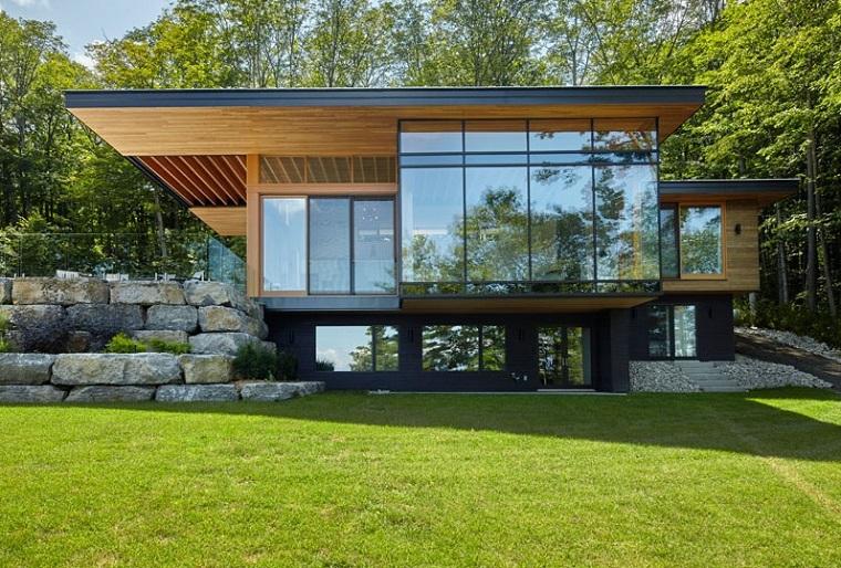 finitions extérieures en bois