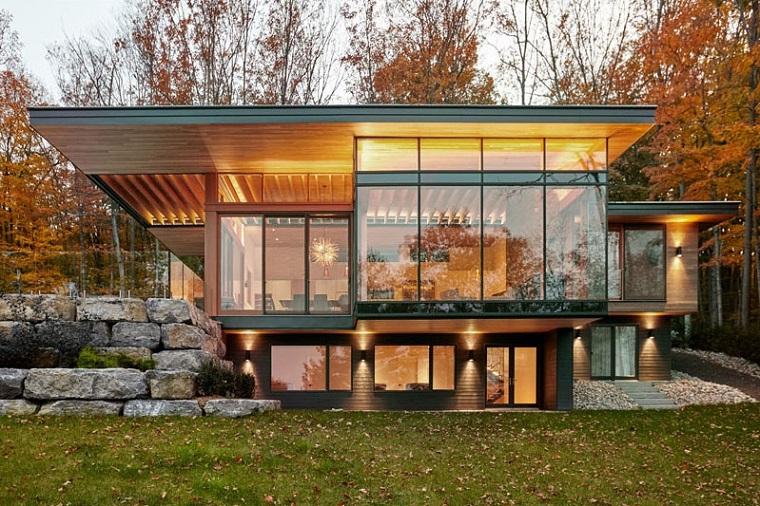 détails lumières maison extérieur