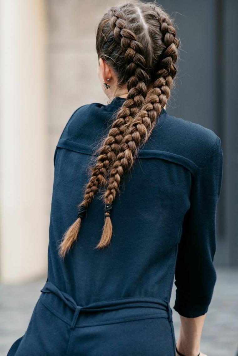 coiffures avec des tresses étape par étape, facile