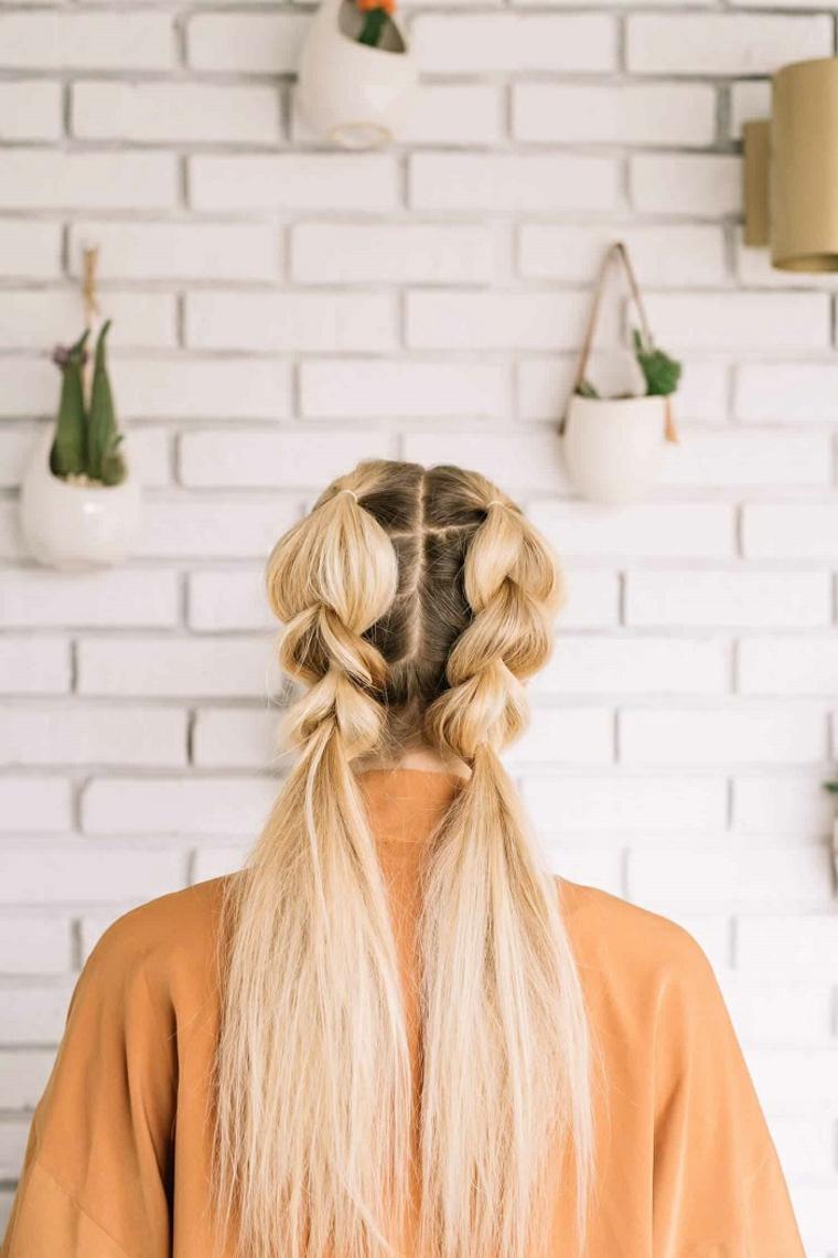 coiffures avec des tresses-facile à faire à la maison