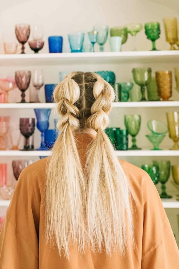 coiffures avec des tresses modernes