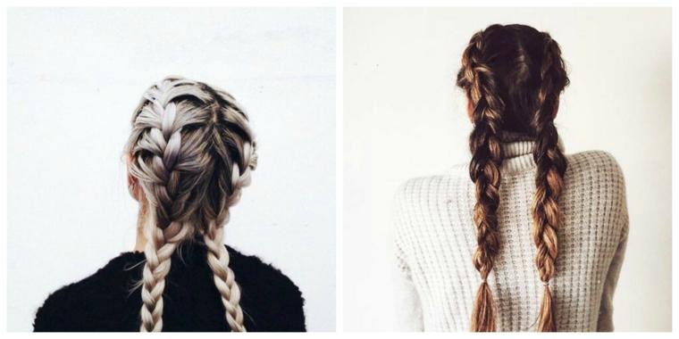 coiffures à double tresse