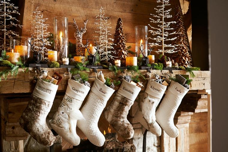 ornements pour cheminée de sapin de Noël