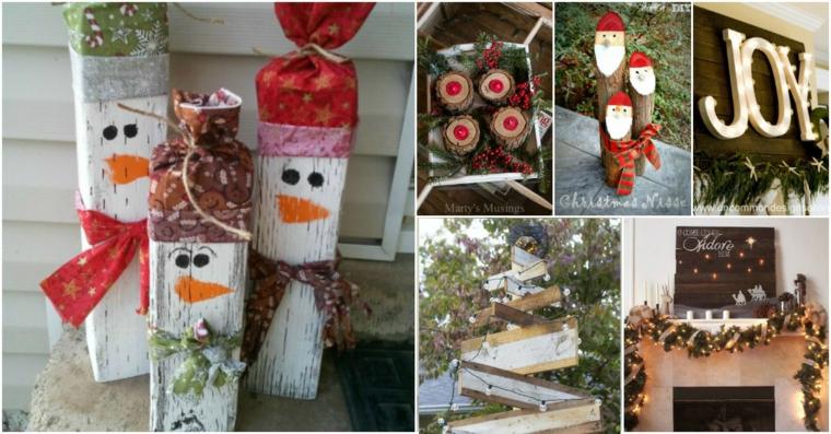 Décorations de Noël pour portes extérieures
