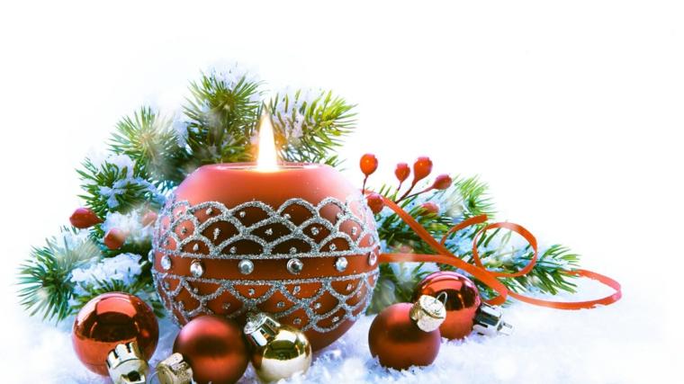 décorations pour bougies de noël