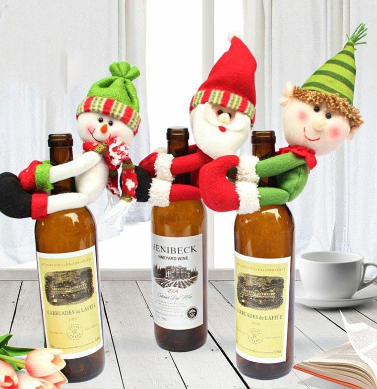 décorations pour le vin de noël