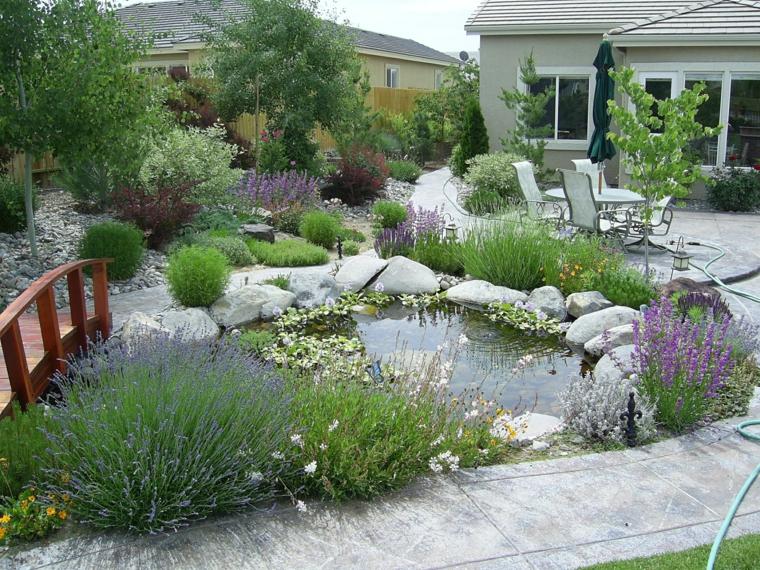 jardin-avec-étang
