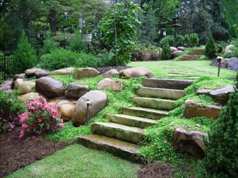 jardins-incliné-décoration-avec-pierres
