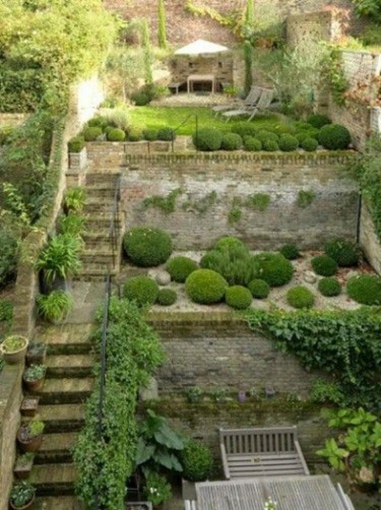 idées de jardins avec pente