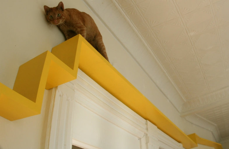 échelle jaune