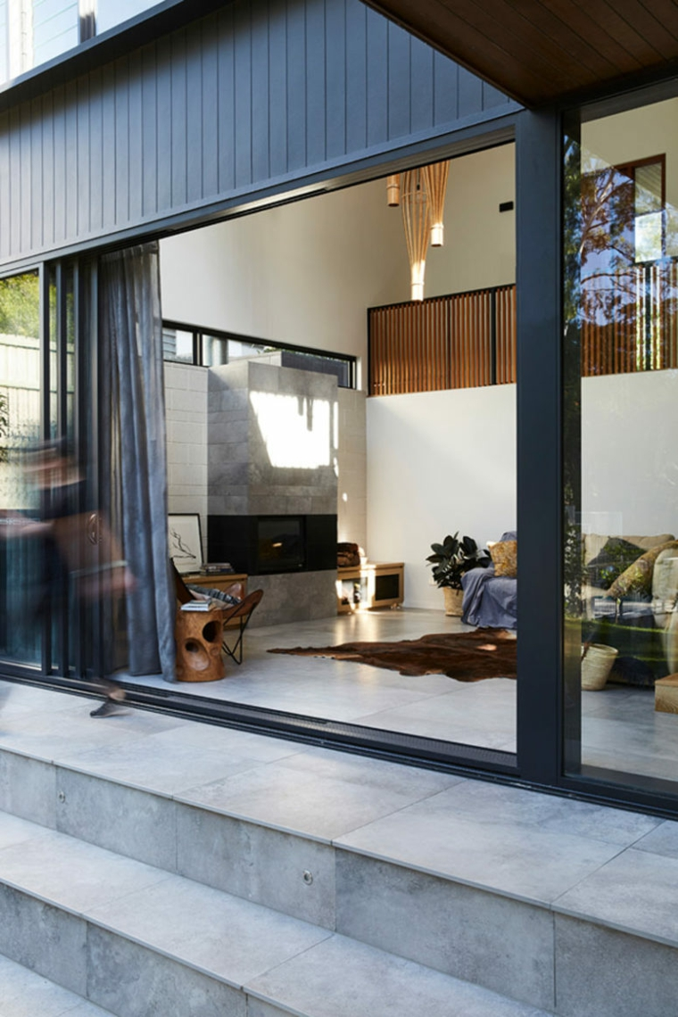 maisons modernes en pierre