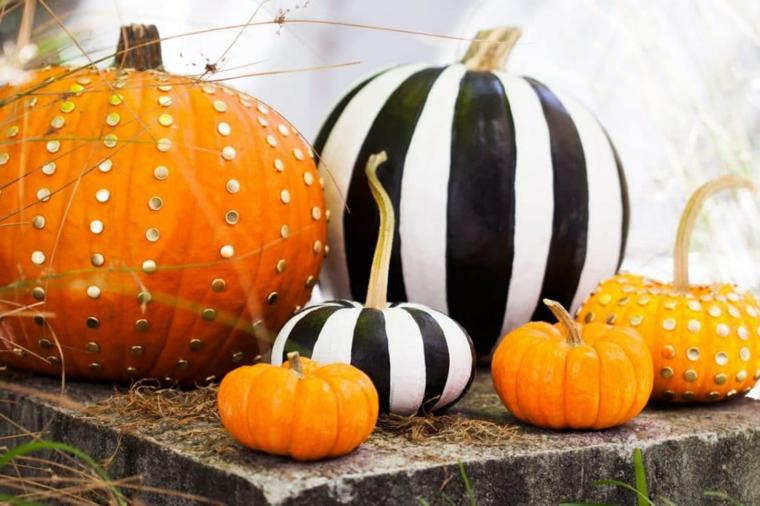 ornements pour halloween-décorer-citrouilles