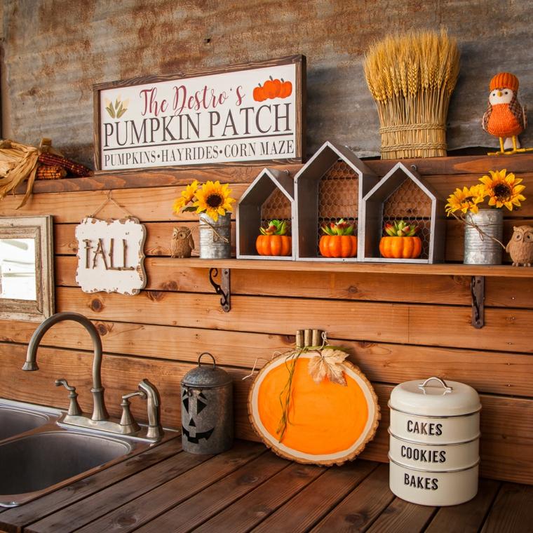 arrangements pour halloween-décorer-cuisine