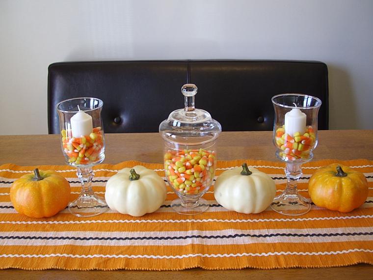 Halloween décorations-décorer-table
