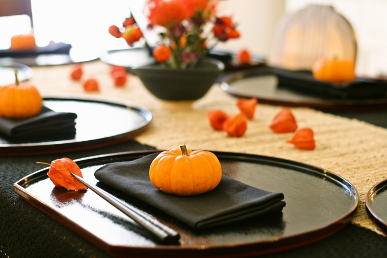 décoration pour la table dhalloween