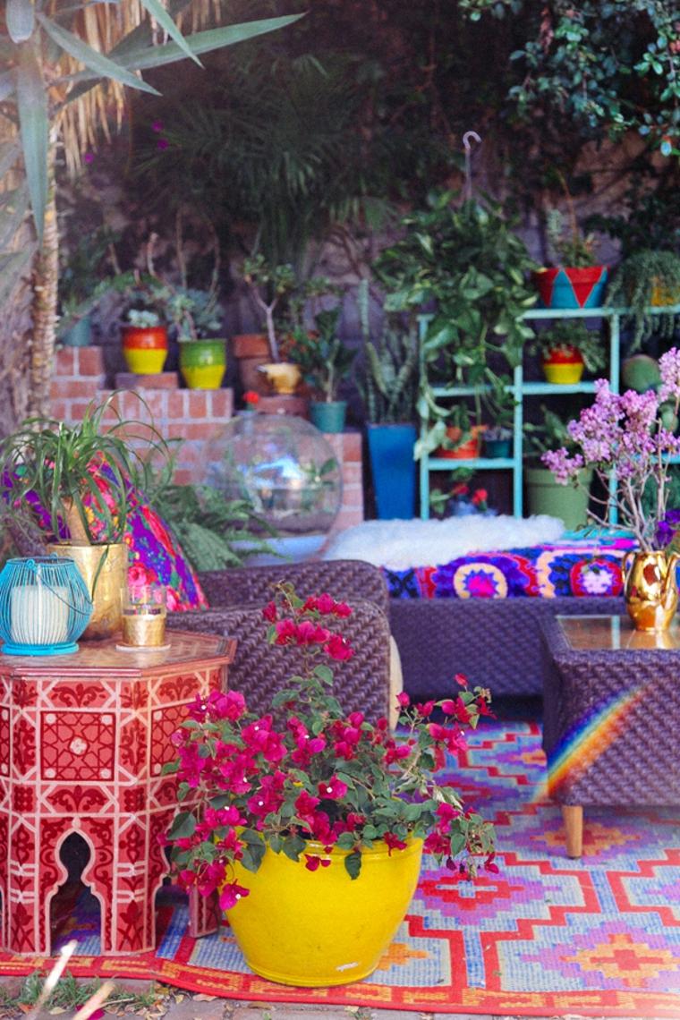 Décoration de jardin de style ethnique