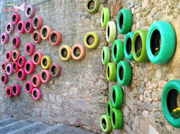 pneus décoratifs