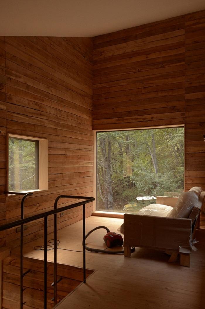 intérieurs chaud bois traité