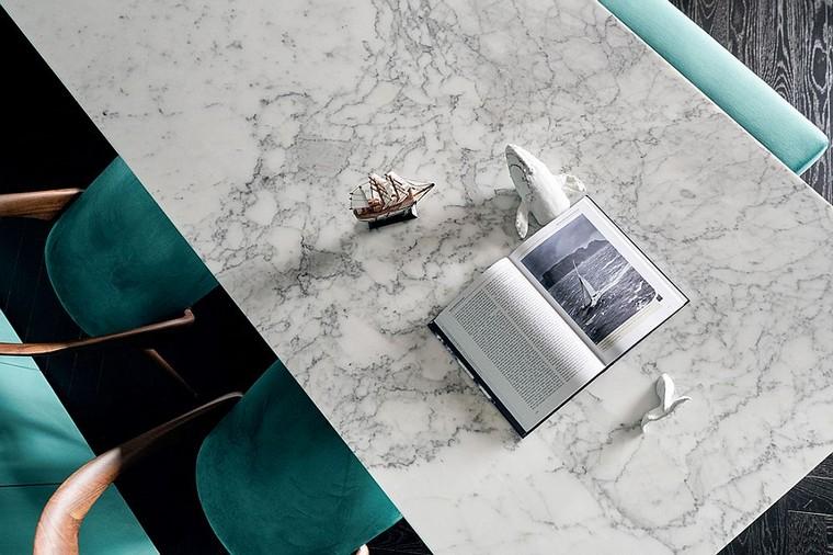 design et décoration dintérieurs appartement-comptoir-marbre