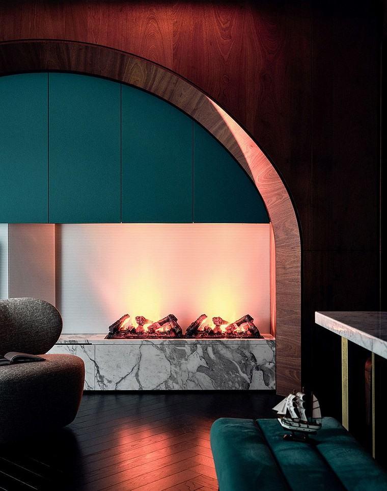 design et décoration-appartement-cheminée