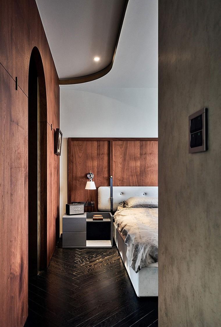 appartement-moderne-design-inspiré-intérieur-yacht-style de chambre à coucher