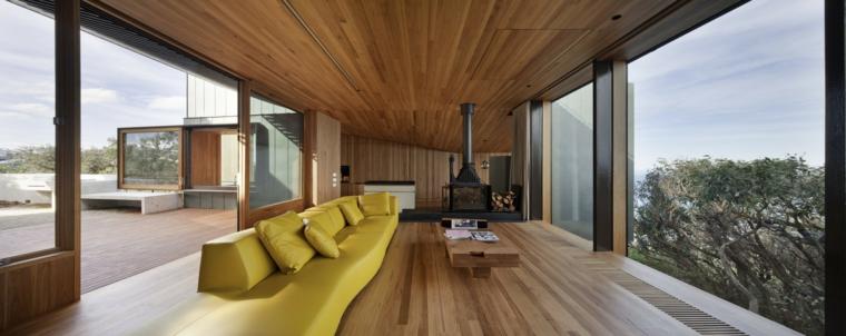 conceptions modernes de maison en bois