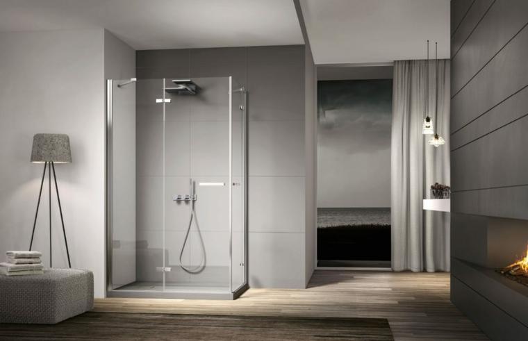 cabine de douche avec portes en verre