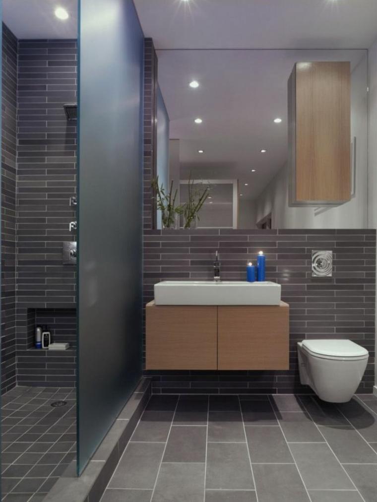 cabine de douche avec porte en verre