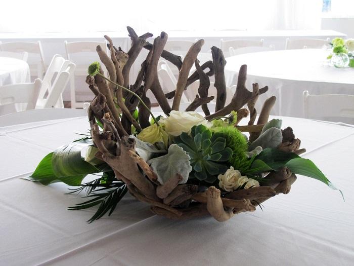 table de centre en bois flotté