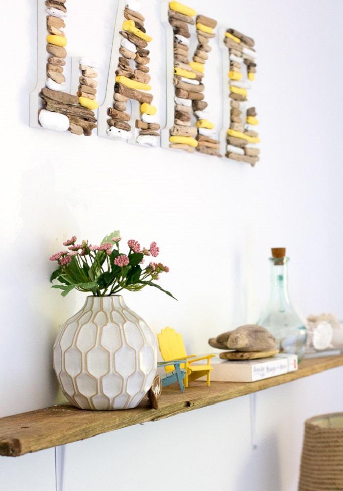 murs en bois flotté
