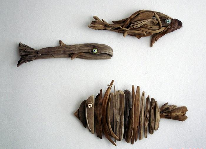 solutions créatives en bois flotté
